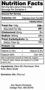 nutrition facts panel ingredients and allergen labeling With food ingredients label template