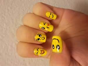 Unique yellow nail art design ideas