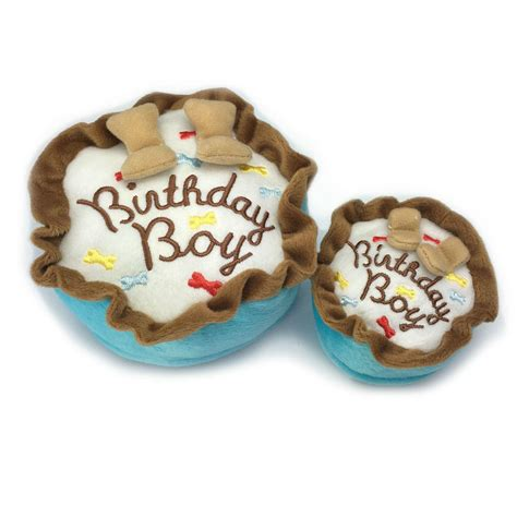 birthday boy cake plush dog toy baxterboo
