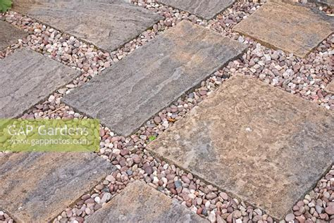 paving and gravel gap gardens path of gravel and stone paving slabs image no 0203067 photo by fiona lea