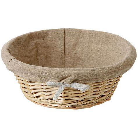 bread basket wicker matfer bourgeat wicker lined bread basket round 8 75 quot 573476