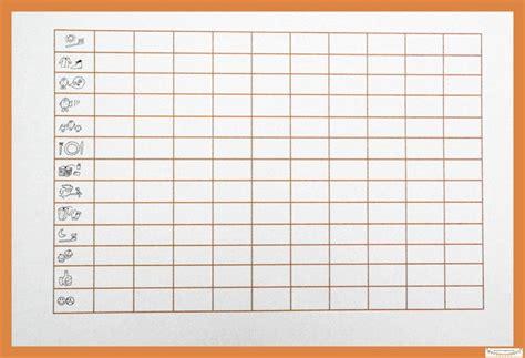 belohnungssystem punkteliste blanko kids chore cards