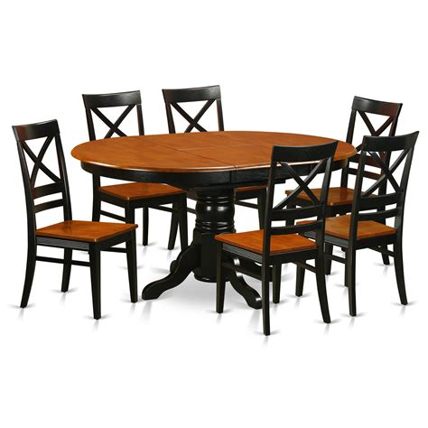 7 Pc Avon Oval Dinette 7 Pc Avon Oval Dining Single
