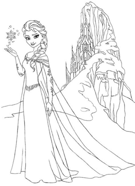 elsa snowflake  coloring page frozen coloring book