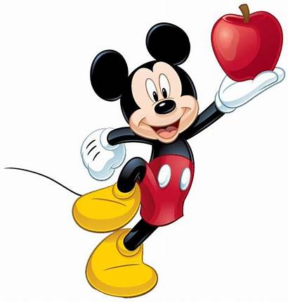 Mickey Mouse Clipart Eating Clip Disney Apple