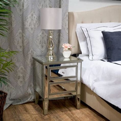 overstock bedroom furniture bedside table with drawers mirrored cheap mirrored nightstand mirrored dining buffet gold