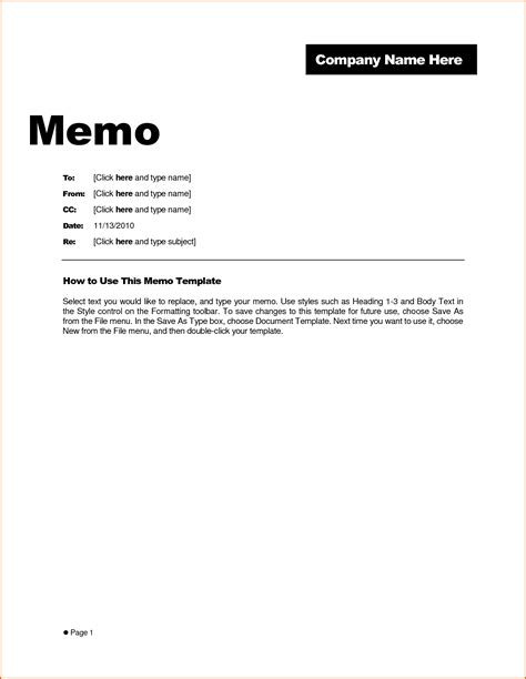 Memo Template 7 Free Memo Template Authorizationletters Org