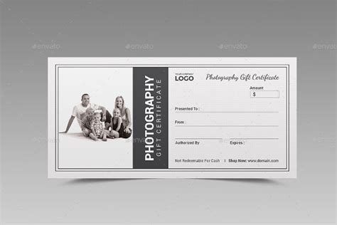 free printable photography gift certificate template 12 photography gift certificate templates free sample