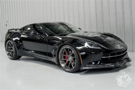 unique widebody black  corvette stingray  sale gtspirit