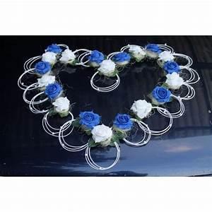 Decoration Voiture Mariage : d coration voiture mariage coeur bleu et blanc sur coeur pour la ~ Preciouscoupons.com Idées de Décoration