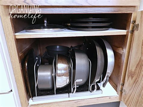 how to organize pots and pans in small kitchen diy knock organization for pots pans how to 9923