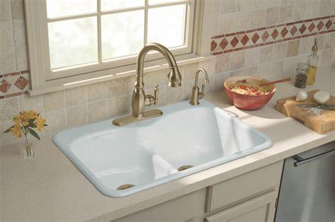 how to cut out a kitchen sink kohler k 6626 4 0 langlade smart divide self rimming