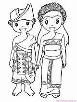 Adat Baju Pakaian Gambar Mewarnai Bali Kartun Jawa Anak Sketsa Rumah Sunda Animasi Barat Coloring Indonesia Suku Dayak Sketch Warna sketch template