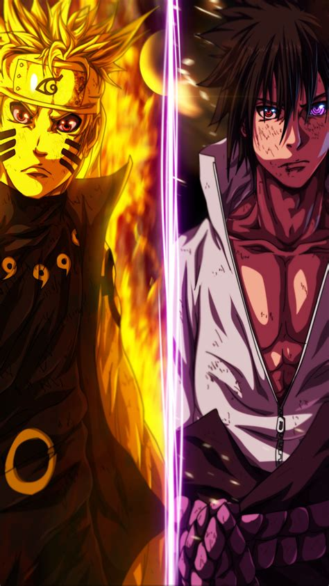 Sasuke And Naruto Wallpaper ·①