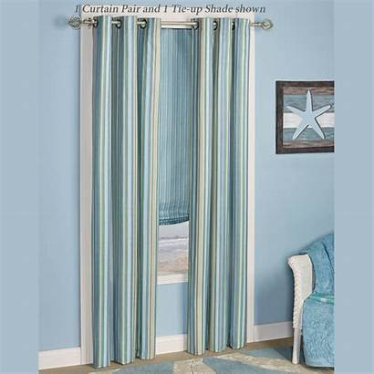 Grommet Clearwater Curtain Multi Curtains Coastal Striped