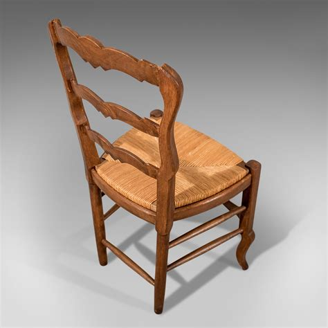 Antique French Oak Country Kitchen Dining Chairs Set 6