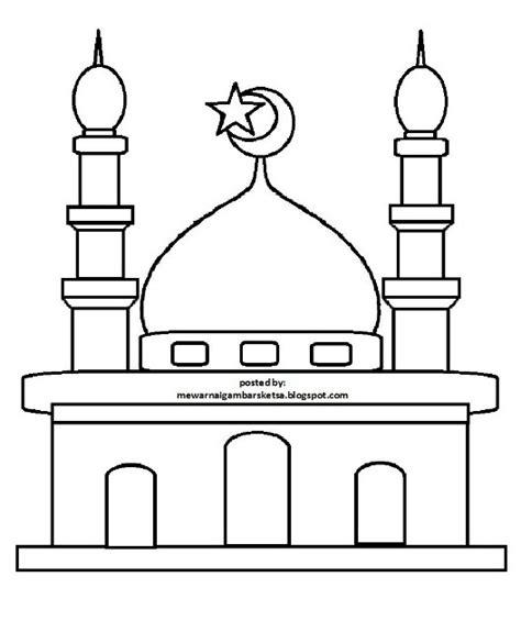gambar masjid kartun hitam putih hd wallpaper unduh