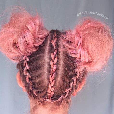 space buns  braids