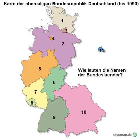 stepmap karte der ehemaligen bundesrepublik deutschland