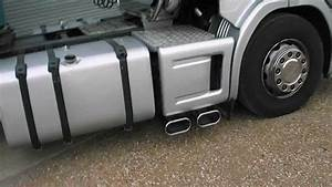 Scania Noise   With Truckmax Big Bore Side Pipes And Twin