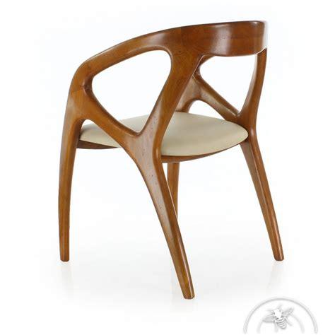Chaise De Bureau Design Scandinave Cuir Beige Orsay