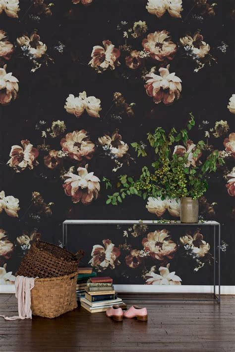 best 25 black floral wallpaper ideas on