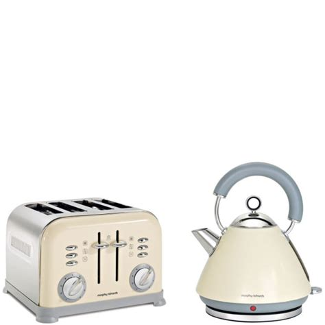 morphy richards toaster and kettle morphy richards 4 slice accents toaster and