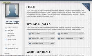 resume html template code html resume templates css menumaker