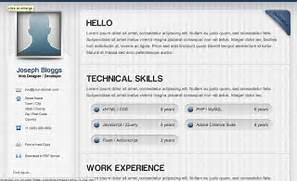 Curriculum Vitae Template By Web Developer Resume Example HTML CSS PSD Und Mehr 22 Freie Frische Design Ressourcen Aus Dem