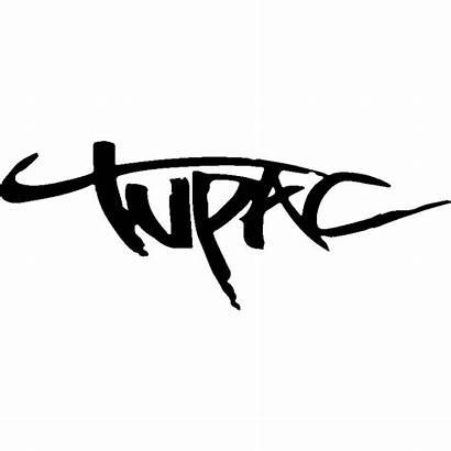 Tupac Signature Sticker Shakur Decal Stickers 2pac