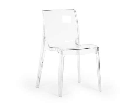 chaise empilable en polycarbonate cristal clear lot de 2