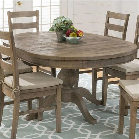 jofran  series oval dining table  slater mill pine