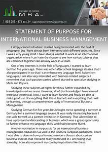 Statement of intent for a business