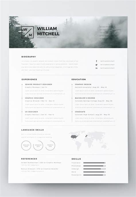 Editable Resume Formats by 7 Free Editable Minimalist Resume Cv In Adobe Illustrator