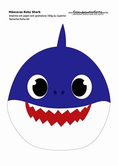 Shark Daddy Mascaras Printable Imprimir Masks Birthday