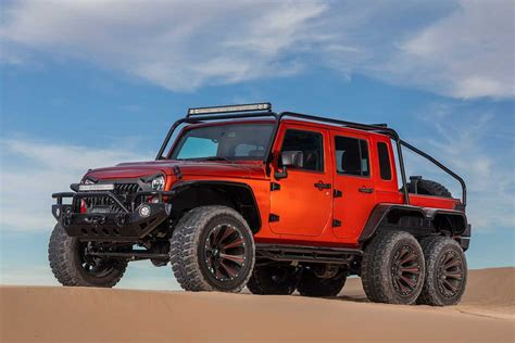 hellcat  powered jeep jk wrangler  ute feature