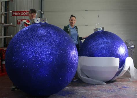 best 28 large baubles oversized glittered bauble b
