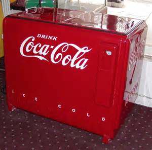 Vintage Coke Cooler Machine