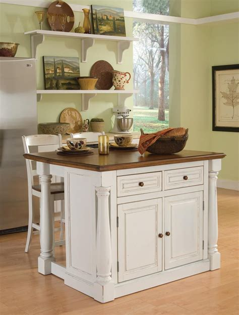 home styles monarch kitchen island   stools