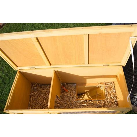 gabbie conigli nani conigliera in legno con 2 gabbie per conigli nani o cavie