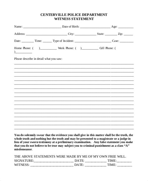 witness affidavit form sle witness statement form the history of sle witness