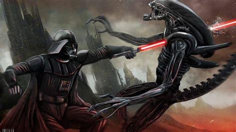 star wars crossover aliens movies fantasy art digital