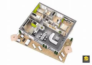 plan appartement moderne 3d maison moderne With plans d appartements modernes