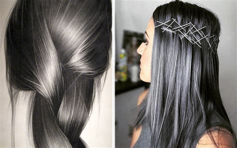 Charcoal Hair Dye by Charcoal Hair Color Is Trending Moroccan