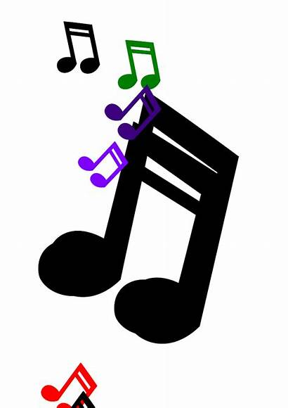Notes Musical Clipart Symbols Coloured Cliparts Colored