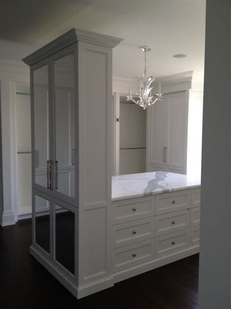 Gray Wardrobe Closet by Stunning Walk In Closet With Chandelier Hung