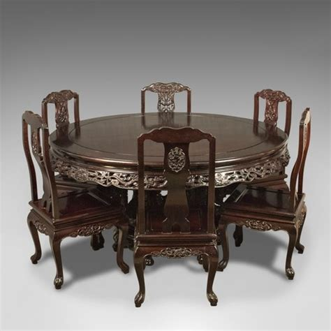 antiques atlas rosewood dining table and set of