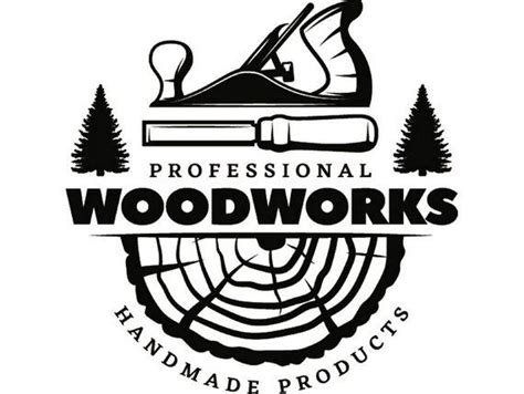 woodworking logo  plane carpenter tool build occupation