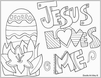 Easter Coloring Jesus Loves Printable Religious Colouring