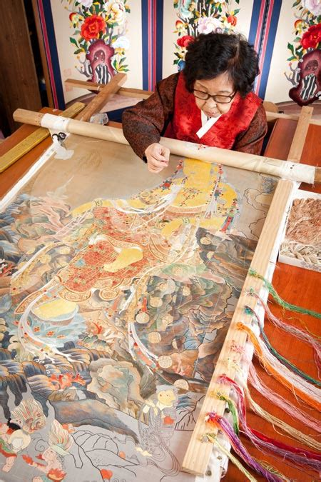 korean embroidery casts spell  han  soo